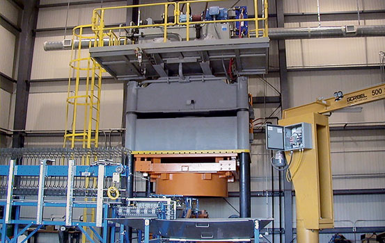 hydraulic press frame structures and applications