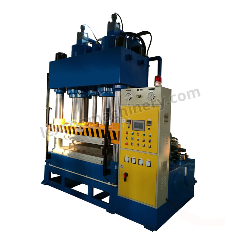 heated platen hydraulic hot press