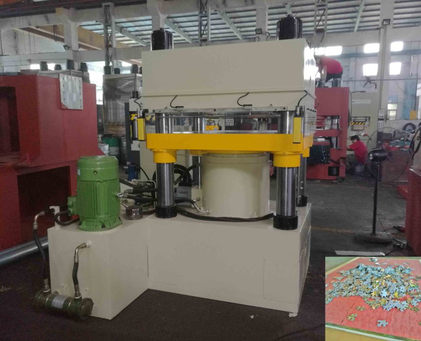 500 ton puzzle making machine