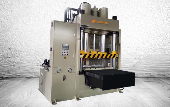 servo controlled 4-post 250 ton shuttle table hydraulic press